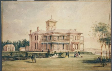 Painting of Retford Hall at Darling Point by Frederick Garling