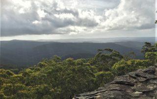 View westward across Blue Mountains National Park